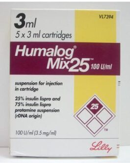 Humalog Mix 25 100IU Cartridges